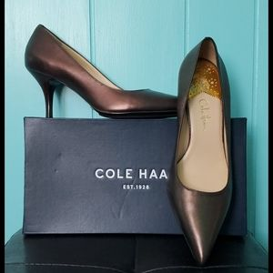 Cole Haan Nike Air Leather Pump-Pewter